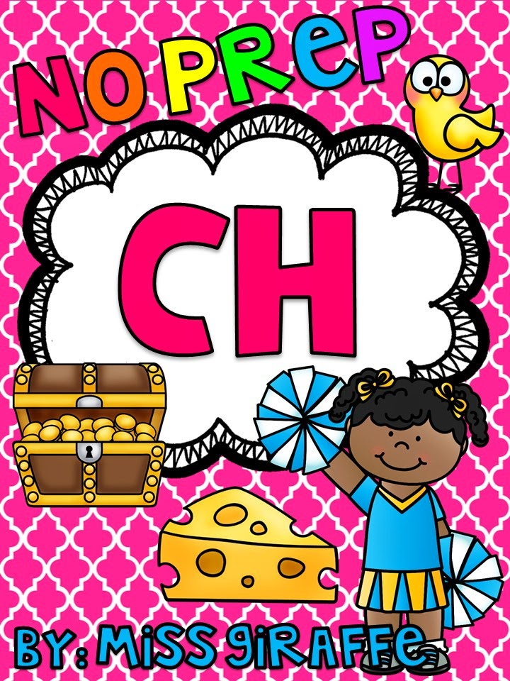 Digraph CH worksheets and activities no prep pack