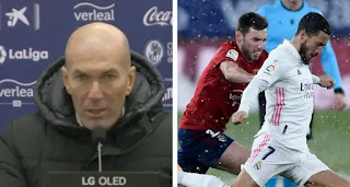 Zidane react to Real Madrid draw: 'Match should have been postponed, it's not football'