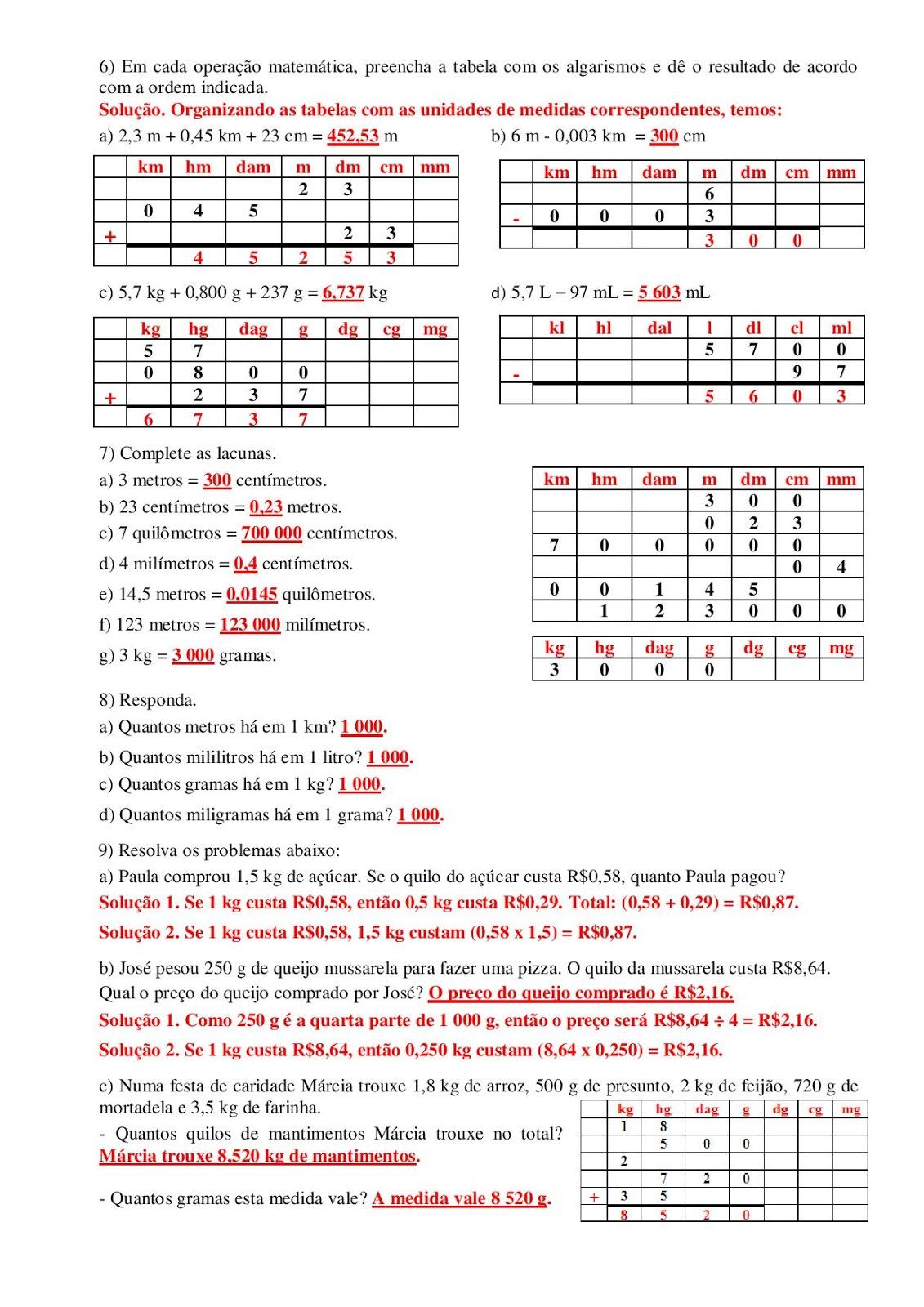 Portal Escola Matematica 5 Ano 70 Atividades Provas Avaliacoes Com Gabarito