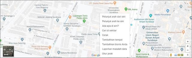 menambahkan lokasi digoogle maps via PC