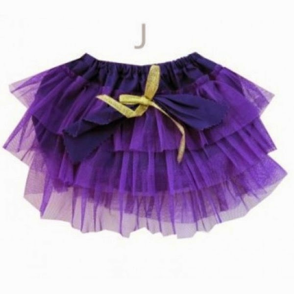 Contoh model rok tutu pants ungu untuk anak