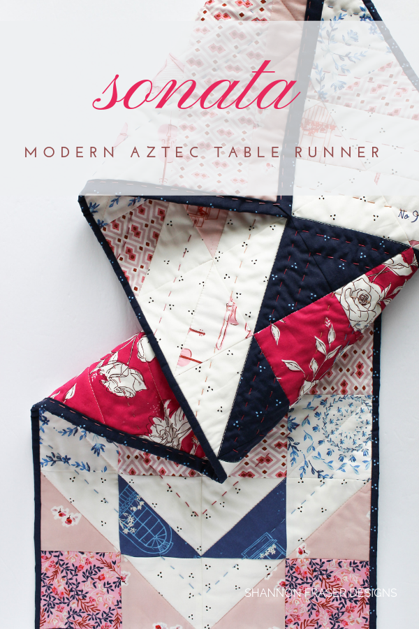 Sonata Showcase Modern Aztec Table Runner by Shannon Fraser Designs