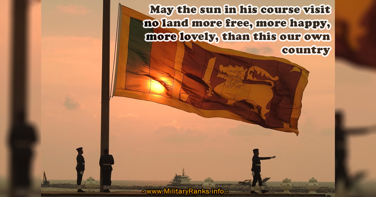 May the sun in his course visit no land Military Quotes