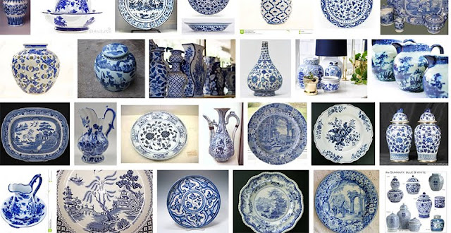 love this blue pottery!
