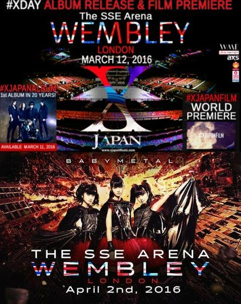 live broadcast x japan live 2017 at the wembley arena in london