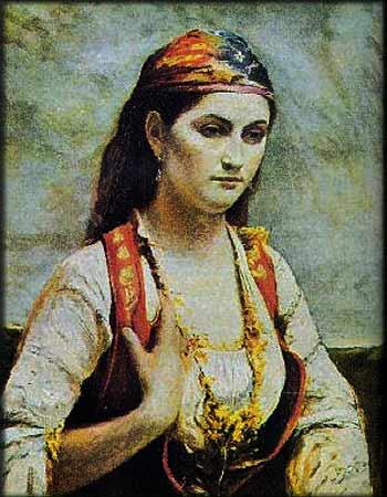 Albanian woman paint, Grua shqiptare piktur