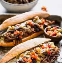 الطبخ البطيء: ساندوتش لحم بقري إيطالي بالجبن,وصفة سهلة,وصفة سريعة,Italian Beef,