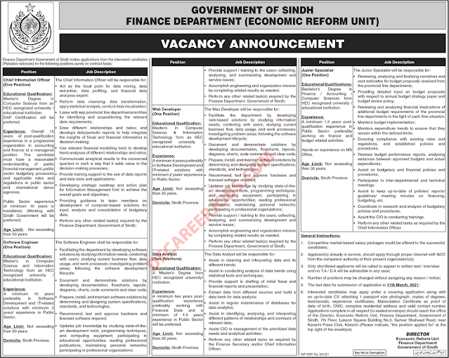 new jobs in sindh