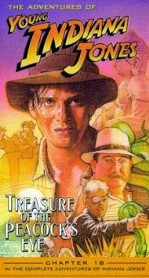 The Adventures of Young Indiana Jones: Treasure of the Peakcock's Eye VHS cover