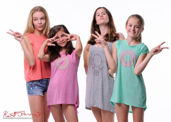 Those eyes again, studio white background. Tween to Teen Fashion - Look-book & Branding Photography