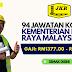 94 kekosongan di Kementerian Kerja Raya. Gaji RM1377.00 - RM4052.00