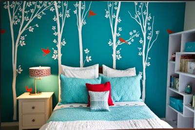 Inspirasi Desain Kamar Tidur  Dengan Nuansa Pepohonan Yang Adem Dan Asri