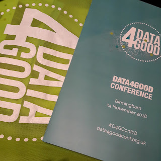 Photo of Data4good conference bag and programme