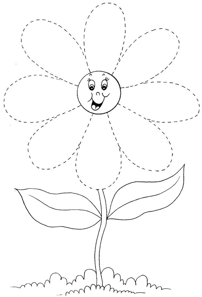 Flores Divertidas Para Colorear Imagenes De Dibujos Para