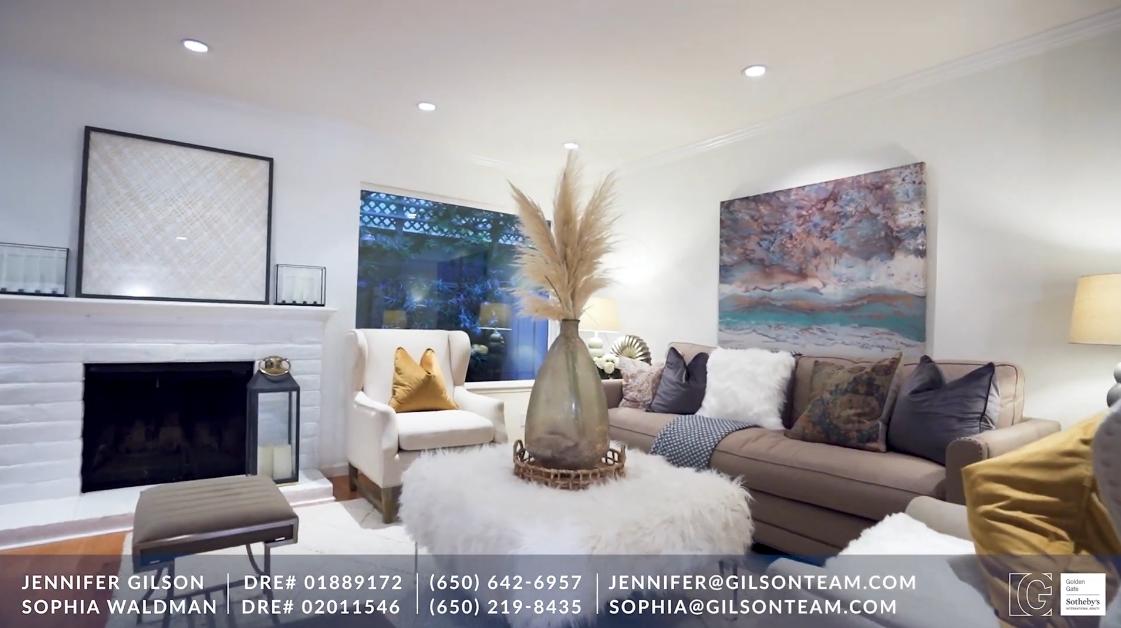 12 Interior Design Photos vs. 1225 Oak Grove Ave #3, Burlingame, CA Luxury Condo Tour
