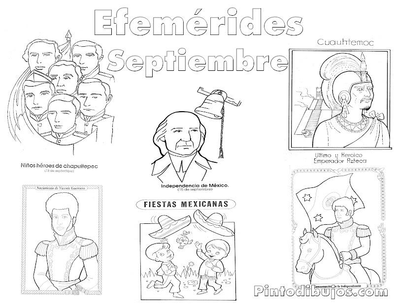Heroes De La Independencia De Mexico Para Colorear 24 Mejores