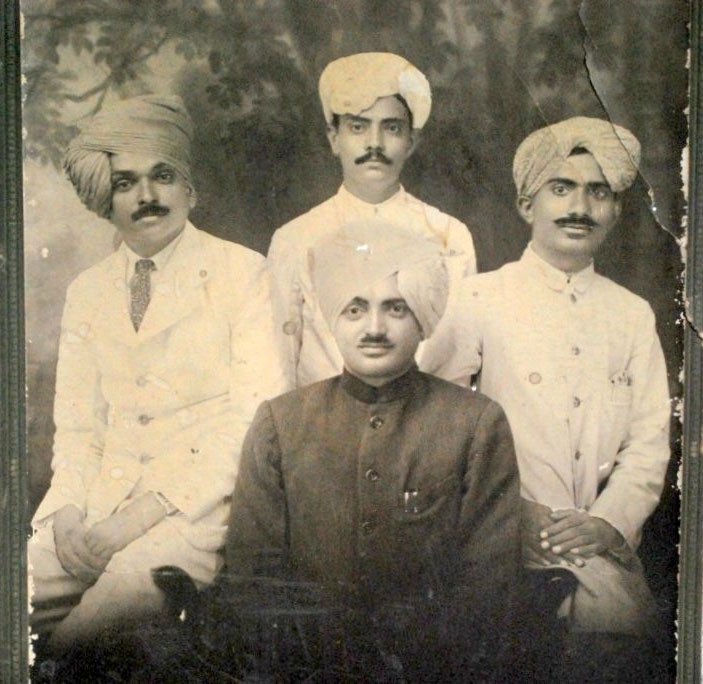 Vintage Photograph of Four Indian Men