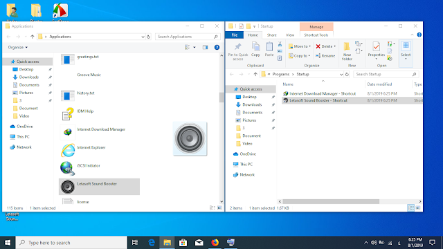 كيفية اضافة برنامج لقائمة بدء التشغيل ويندوز 10