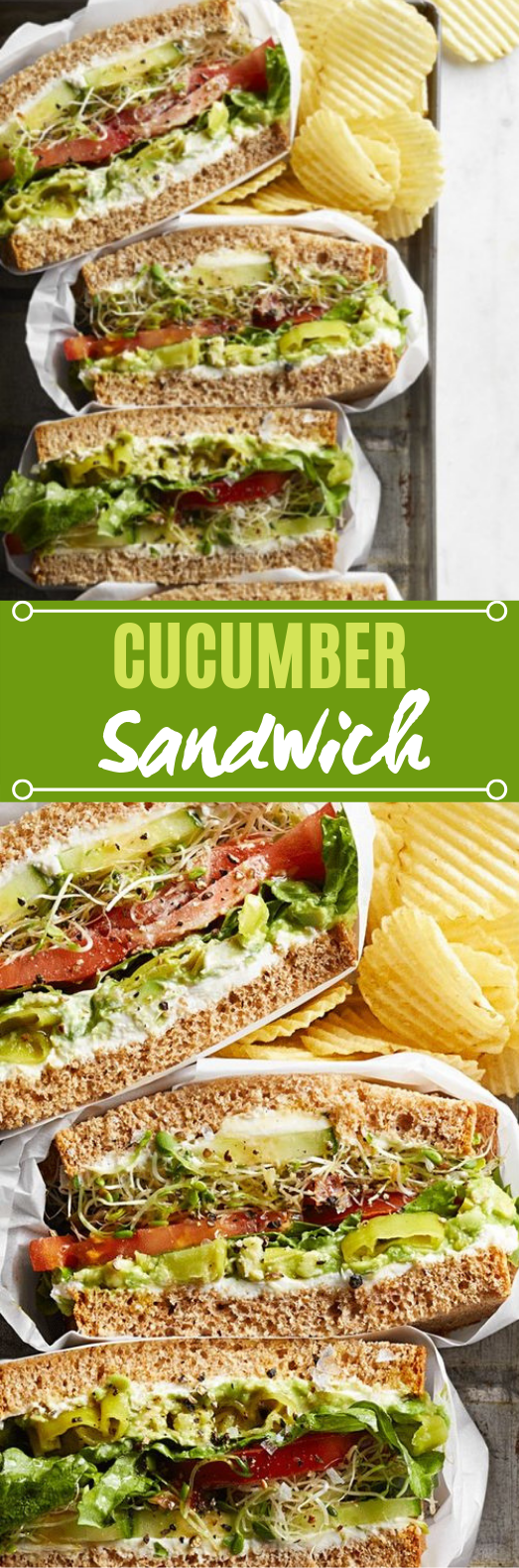 Cucumber Sandwich #lunch #vegetarian