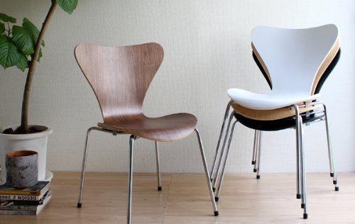 おしゃれな北欧の家具。アルネ・ヤコブセンの家具【a】 セブンチェア