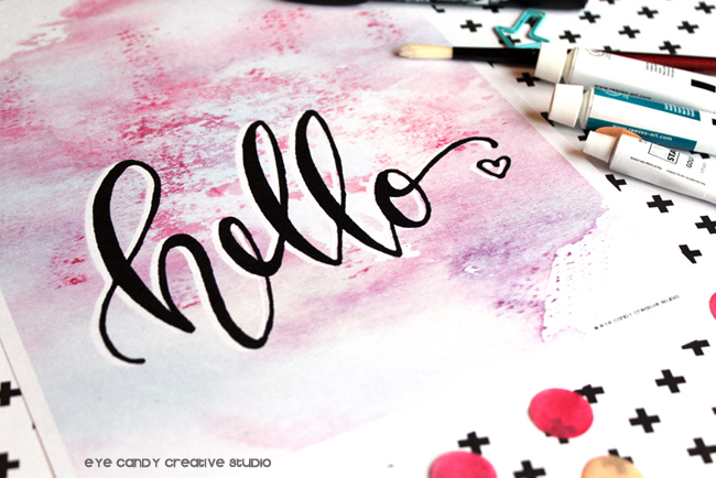 free watercolor print, free hello art print download, hand lettering