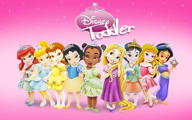Painel Princesas Baby Disney para decoração de mesa de aniversário