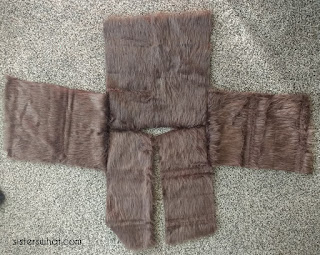 sew on arms on chewbacca