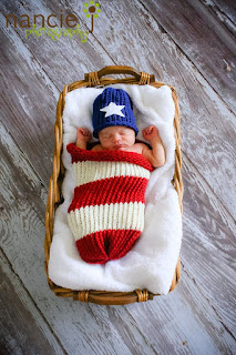 Newborn Flag Hat and Sack Set