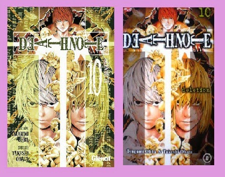 portadas del cómic manga Death note, tomo 10