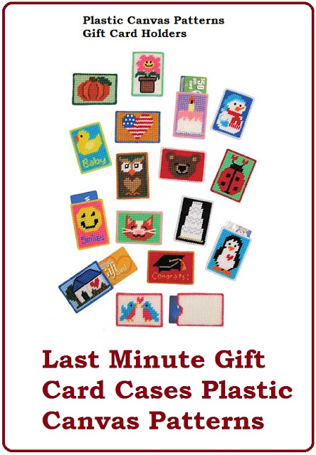 Last Minute Gift Ideas Plastic Canvas Gift Card Holder Patterns