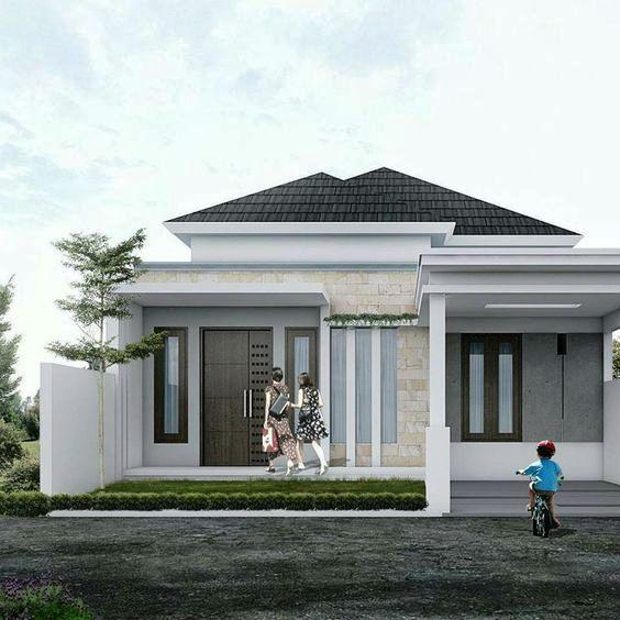 20+ Inspirasi Fasad Rumah Minimalis 1 Lantai Dengan Atap Limasan