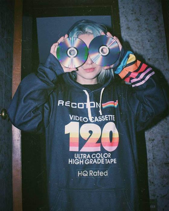 foto tumblr con cds vintage