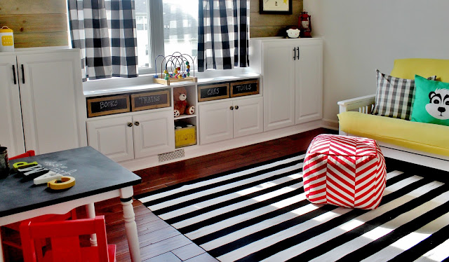 DIY Built-Ins for Playroom Storage
