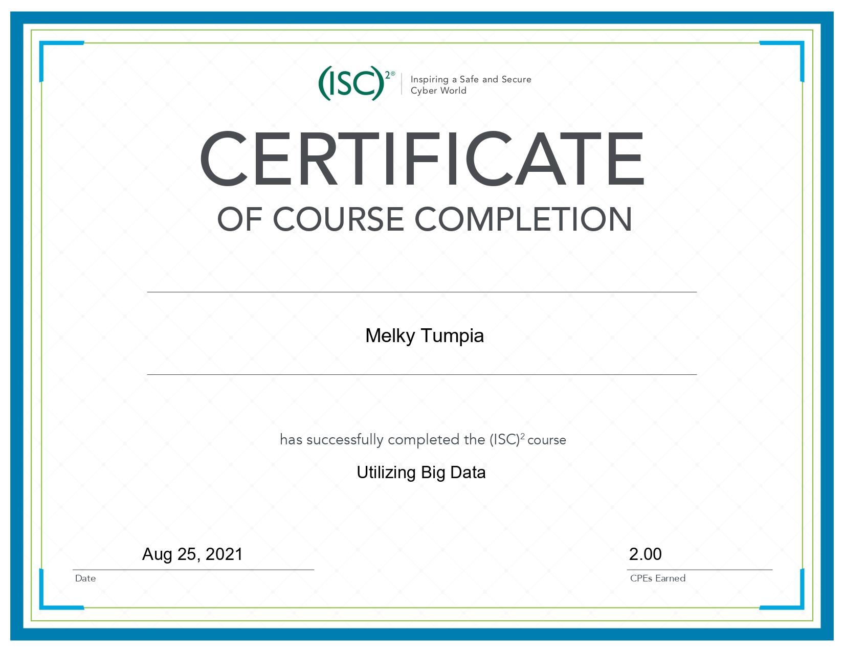 Utilizing Big Data - ISC² Certification
