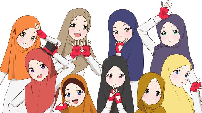 14 Gambar Kartun Muslimah Cute