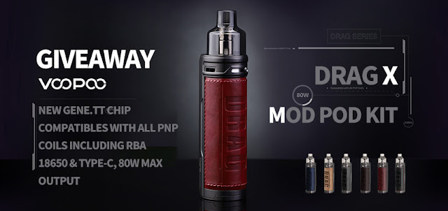VOOPOO Drag X Mod Pod Kit Giveaway event is on!