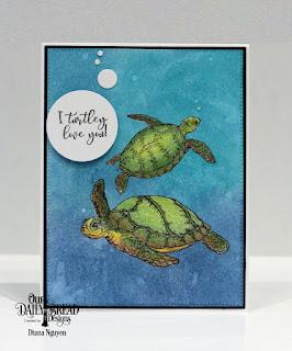 Our Daily Bread Designs Stamp/Die Duos: Turtle Love, Custom Dies: Pierced Rectangles