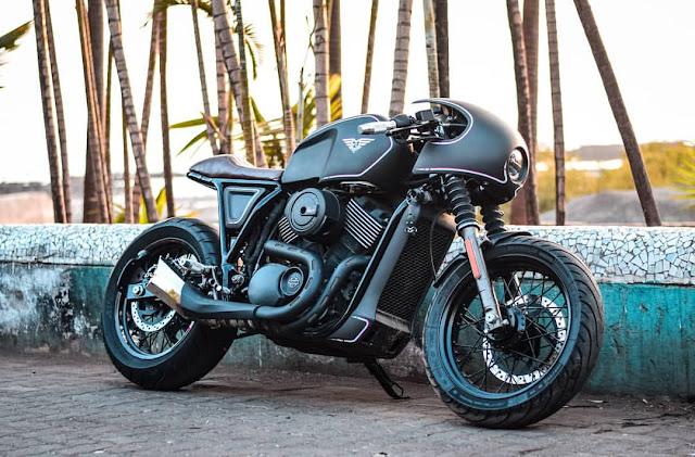 Harley Davidson Street 750 By Mean Green Customs Hell Kustom