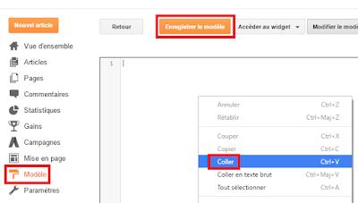 Remplacer le code source d'un template de blog sur Blogger