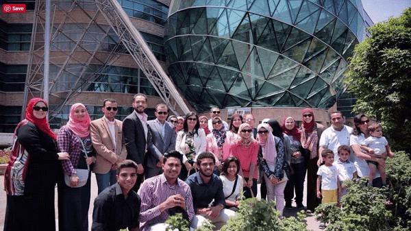 زياره المعهد الدولي العالي للاعلام باكاديميه الشروق لمستشفي ٥٧٣٥٧ لعلاج سرطان الاطفال