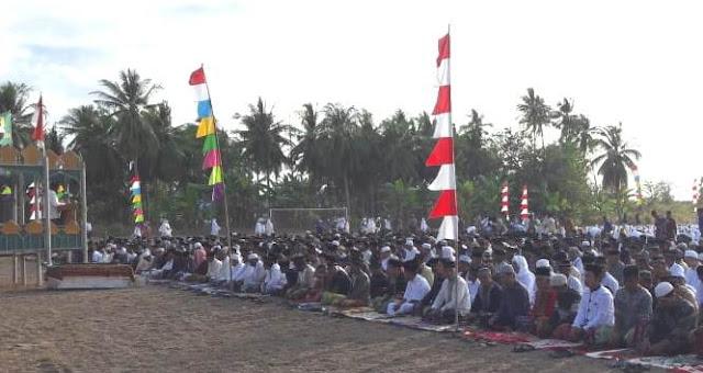 Ribuan Warga Pasimarannu Selayar Shalat Idul Adha, di Lapangan Garuda Bonerate