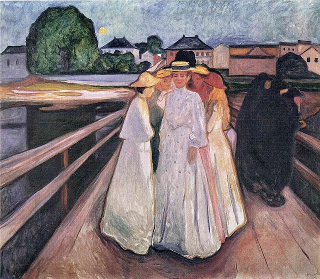 Эдвард Мунк - Дамы на мосту. 1903