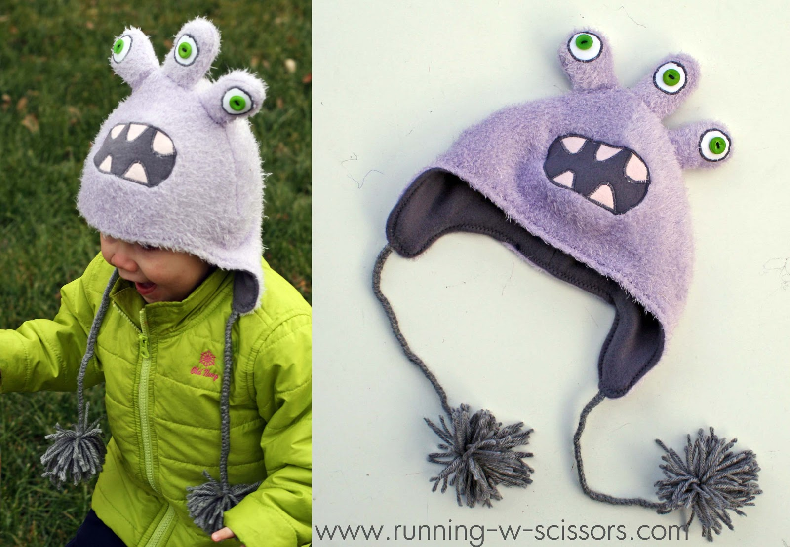 Make diy monster hats a great diy gift idea jeuxipadfo Image collections