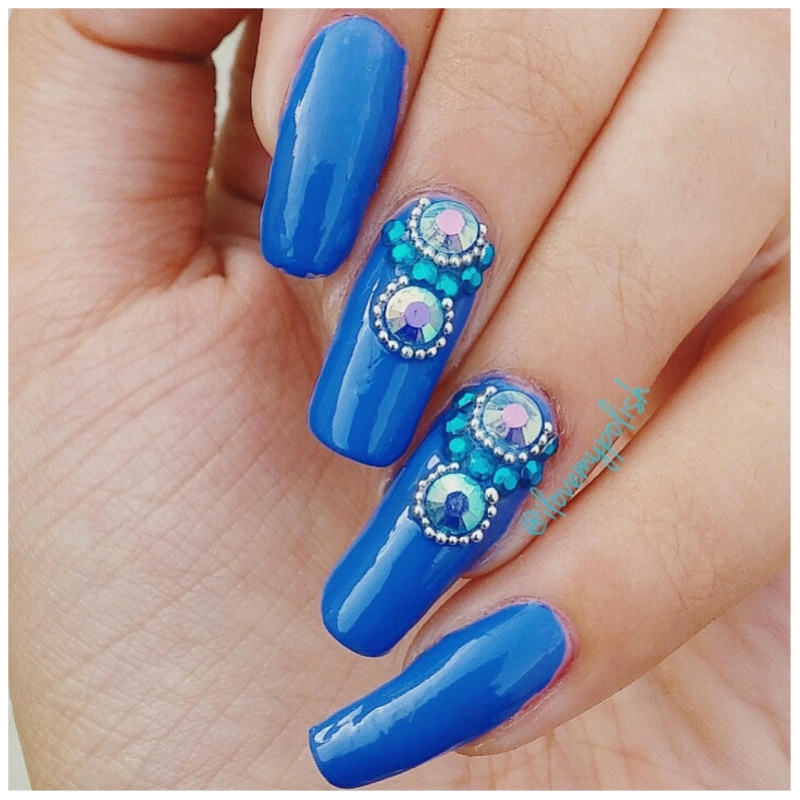 I Love My Polish Jeweled Nails Nailart