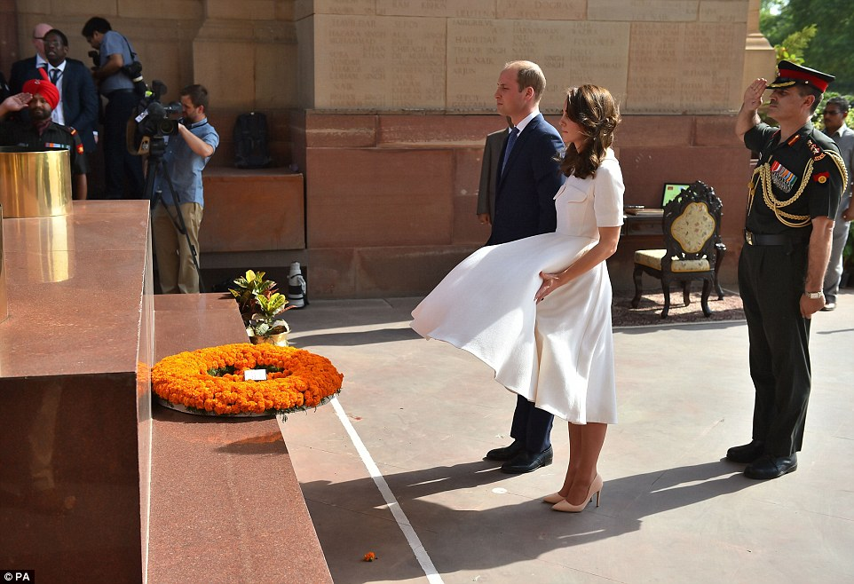 Kate Middleton has a Marilyn moment in her flyaway white dress in Delhi
