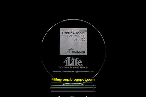 foto Corporate America Today Menamakan 4Life Penyedia Suplemen Sistem Imun Terbaik 2020