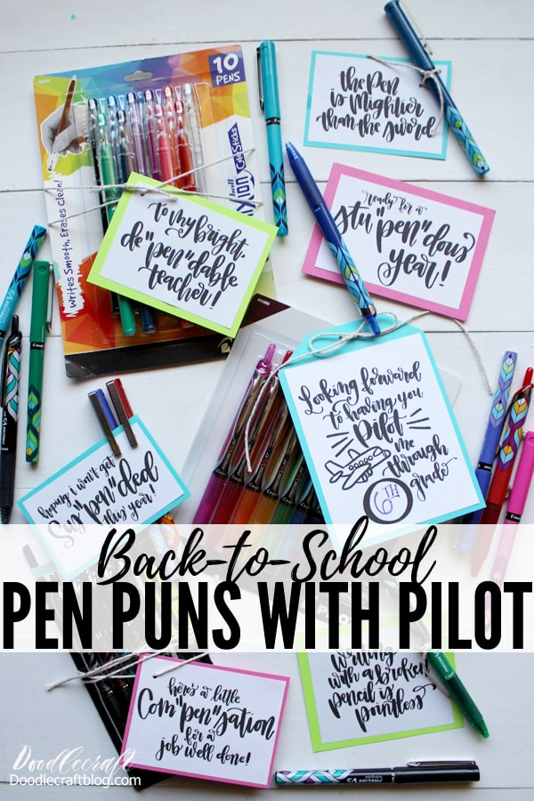 Pilot Pen Back-to-School Pen Pun Gifts!