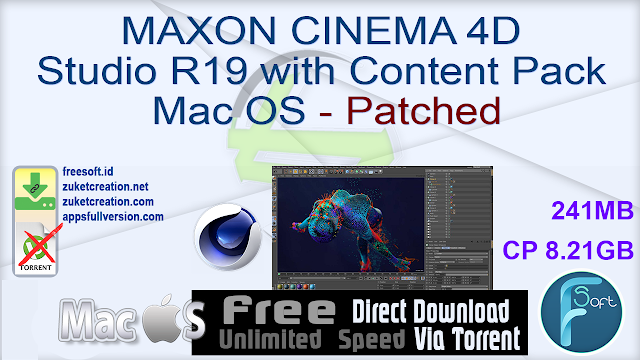 MAXON CINEMA 4D Studio R19 with Content Pack Mac OS – Patched