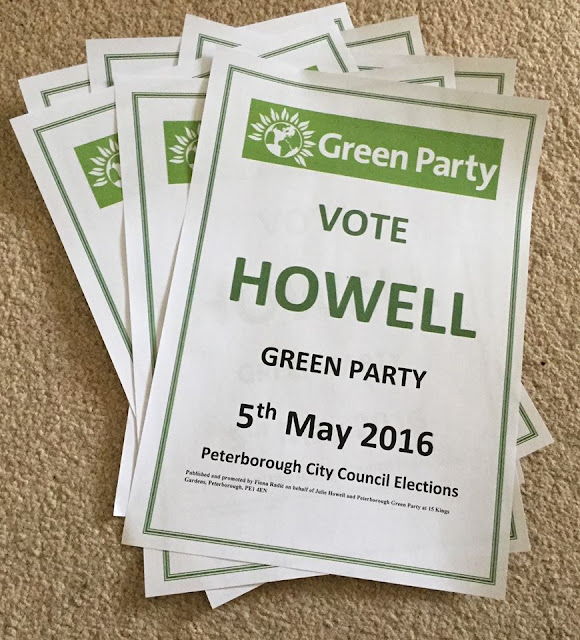 Vote Green Party Julie Howell posters