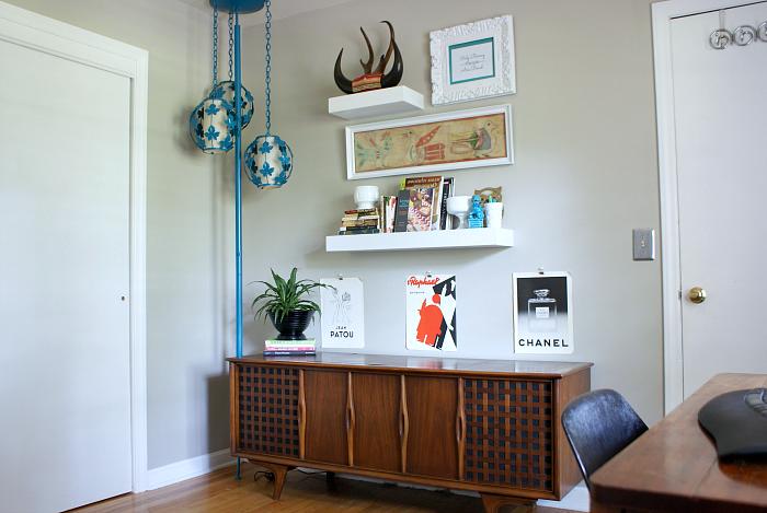 DIY Vintage Modern Eclectic Home Office